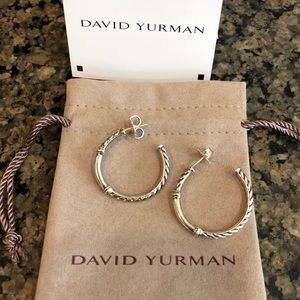 David Yurman large gold/silver hoops 🎀